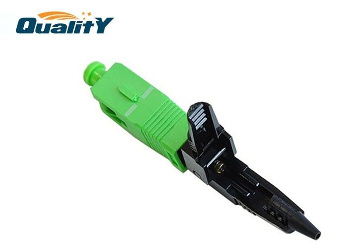 QSC60K1-APC-0.9  Mountable Fiber Optic Fast Connector With Ceramic Ferrule / SC APC Fast Connector
